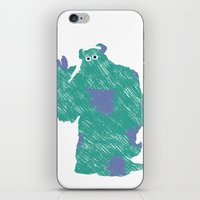 monster inc iPhone & iPod Skins featuring MONSTER INC. : SULLEY by DrakenStuff+