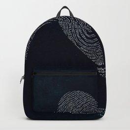 Coded heartprint - dark print Backpack