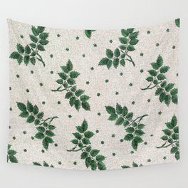 Vintage leaf wallpaper (ca 1850-1900) in high resolution Wall Tapestry