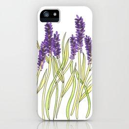 Lavender Illustration iPhone Case