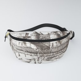 Swamp Fortress ink Fanny Pack