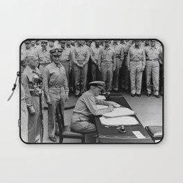 Admiral Nimitz Signing The Japanese Surrender Laptop Sleeve