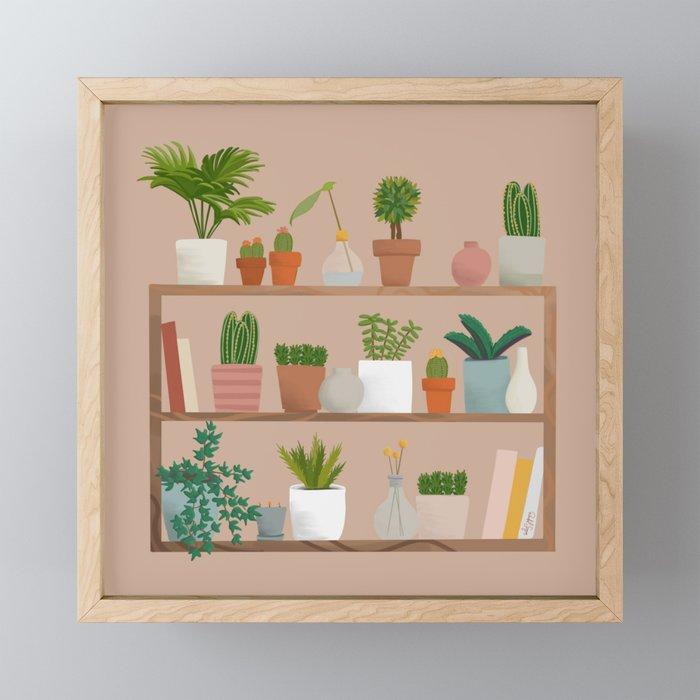 Plant Mama Shelfie Framed Mini Art Print