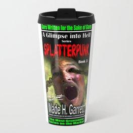 """Splatterpunk"" book cover art with signature Travel Mug"