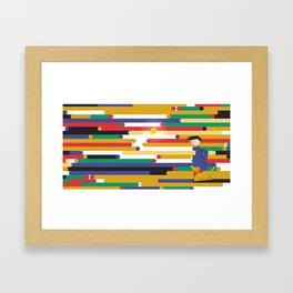 Chasing Sparks - Running Framed Art Print