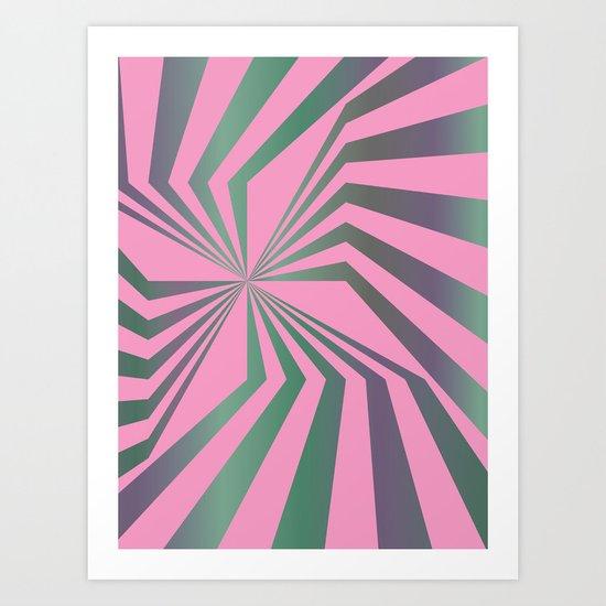 Broken Lines - Optical games Art Print