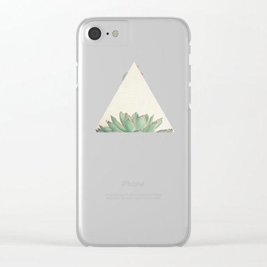 Echeveria Clear iPhone Case