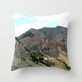 First View of the Sunnyside Mill, Coming Up the Animas River Throw Pillow