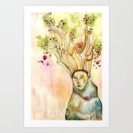 Treehead Art Print