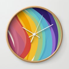 Fig. 045 Colorful Swirls Wall Clock