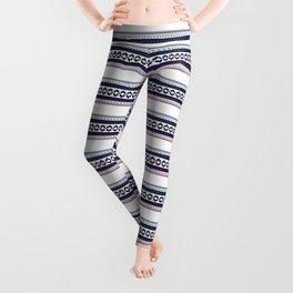 Hipster fairisle modern pixel art fair isle pattern geometric print Leggings