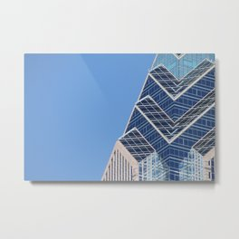 Glass, Steel, and Sky Metal Print