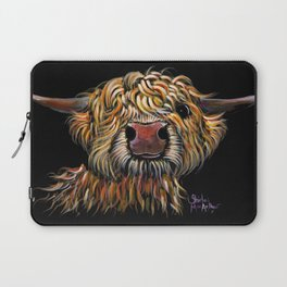 Scottish Highland Cow ' POPEYE ' by Shirley MacArthur Laptop Sleeve