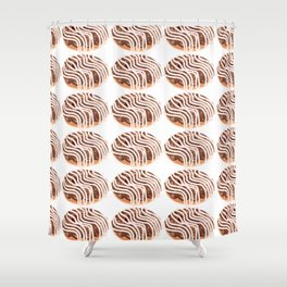 Chocolate Cream Donuts with Extra Vanilla Shower Curtain