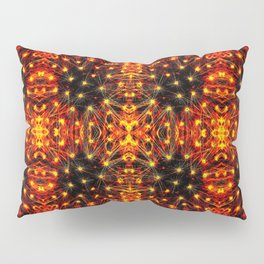 Red Yellow Sparkling Pattern Pillow Sham