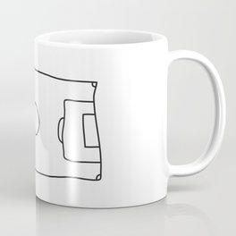 Football in Lines Coffee Mug