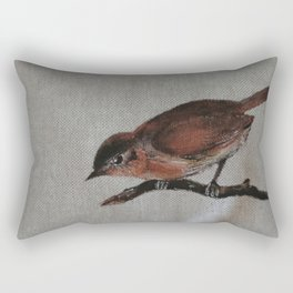 A red Bird Rectangular Pillow