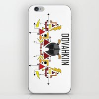 skyrim iPhone & iPod Skins featuring Skyrim: The Dovahkiin - RED (Skyrim) by E_Nicholson
