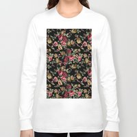 vintage flowers Long Sleeve T-shirts featuring Vintage Flowers by Eduardo Doreni
