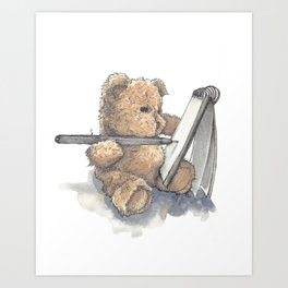 Teddy Bear Artist Art Print