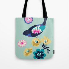 Birds and Blooms 4 Tote Bag