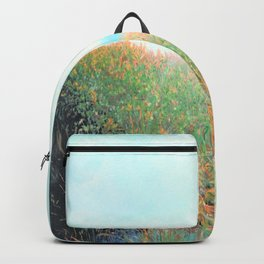 Island Beach, Bright New Day1 Oil Pastel Drawing Backpack