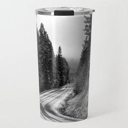 Snowy Mountain Pass Travel Mug