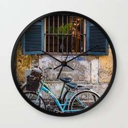 Savonnerie and Bicycles, Hoi An Ancient Town, Vietnam Wall Clock
