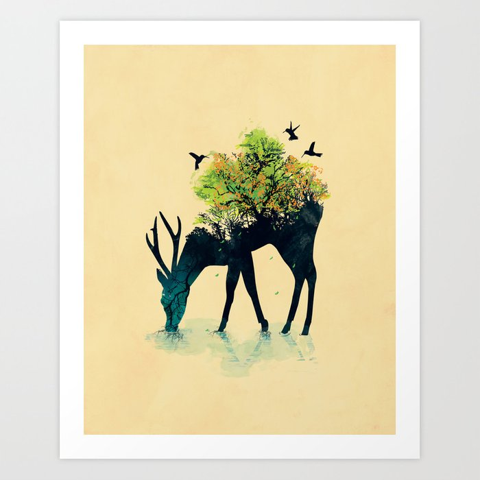 Watering (A Life Into Itself) Art Print