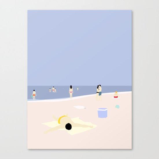 PÅ STRANDEN Canvas Print