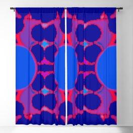 symmetric orange on blue Blackout Curtain