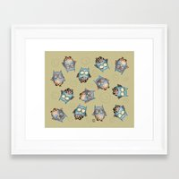 owls Framed Art Prints featuring Owls by Catru