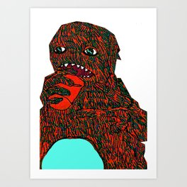 Monster number 2 Art Print