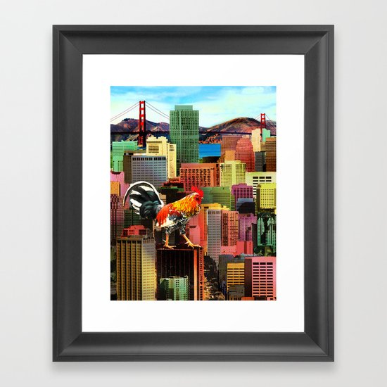 San Francisco City Chicken Framed Art Print