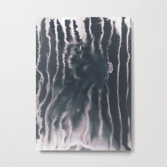 F-Tie dye- blue & white Metal Print