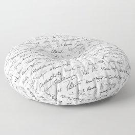 Literary Giants Pattern II Floor Pillow