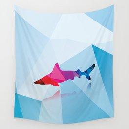 Geometric shark Wall Tapestry