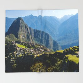 Machu Picchu Part 2 Throw Blanket