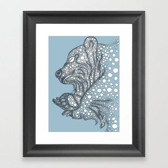 Winter sleep Framed Art Print