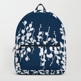 Pussywillow Silhouettes — Midnight Blue Backpack