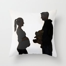 baby comming soon Throw Pillow