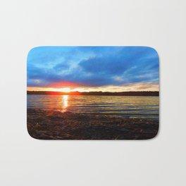 Sunset by the Pond Bath Mat