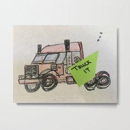 TRUCK IT Metal Print