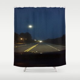 Moonlight Drive Shower Curtain