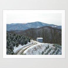 Road to the Christmas Tree Farm Art Print