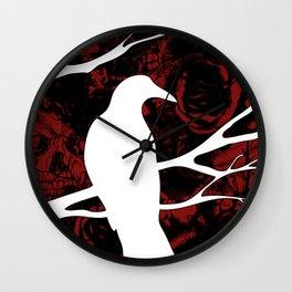 Death Crow Wall Clock