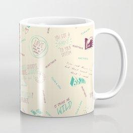 Doodlethrob (Tegan and Sara) two tone Coffee Mug