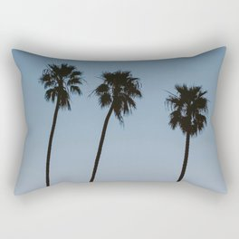 three palm trees iv / santa barbara, california Rectangular Pillow