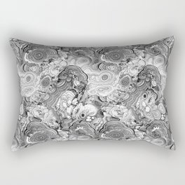 Malachite black and white Rectangular Pillow