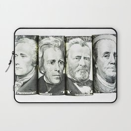 Four Presidents US Bank Notes Laptop Sleeve